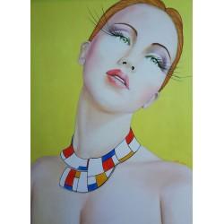 Collier Mondrian 80x60cm